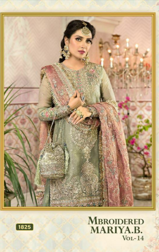 SHREE FAB MBROIDERED VOL 14 HIT DESIGN 1825