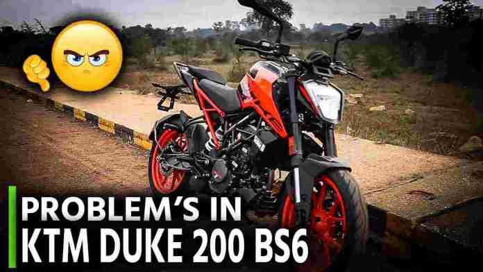 Problems in KTM DUKE 200