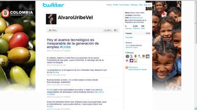 Presidente Colombia en Twitter