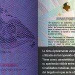 Nuevo Pasaporte Colombiano Reacción Luz UV