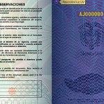 Pasaporte Colombia Reacción Luz UV