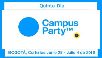 Quinto dia Campus Party Colombia 2010