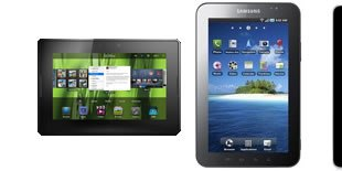 BlackBerry PlayBook, Samsung Galaxy Tab, Apple iPad
