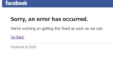Facebook con problemas