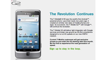 T-Mobile G2 con Google Android