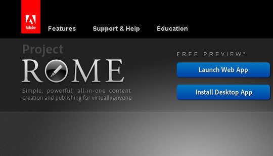Adobe Project Rome