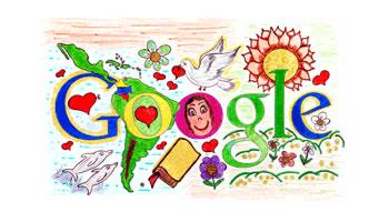 Doodle Latino América Día de la Raza Colombia