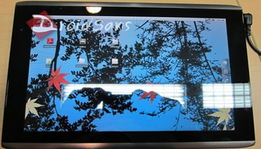 Tablet Acer con Android 3 Gingerbread