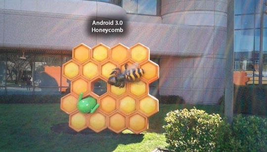 Android 3.0 Honeycomb estatua
