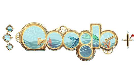 Doodle Google Julio Verne