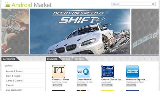 Google Android Market Web o en Internet