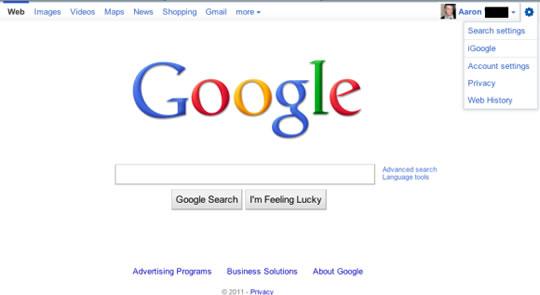 Google Barra de Navegación