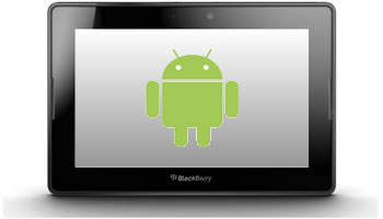 BlackBerry PlayBook con Android Apps