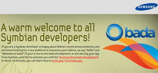 Invitacion Samsung bada a Symbian