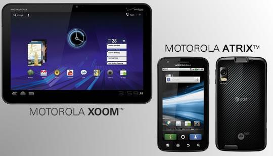 Motorola Xoom y Motorola Atrix