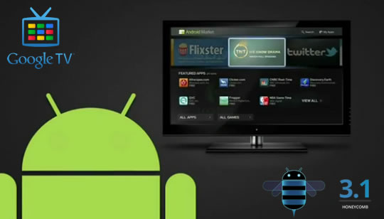 Android 3.1 en Google TV 2011