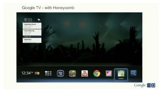 Google TV con Android Honeycomb