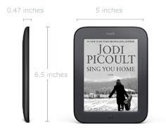 Nook Simple Touch Reader Medidas