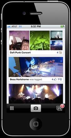 Aplicacion de Facebook para compartir fotos