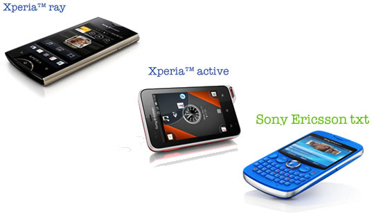Sony Ericsson Xperia active - Xperia ray - Sony Ericsson txt