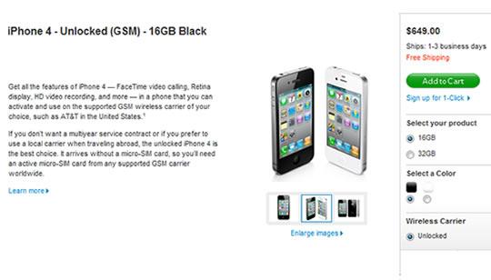 iPhone 4 desbloqueado