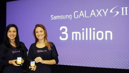Samsung Galaxy II record 3 millones de ventas