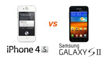 Apple iPhone 4S - Samsung Galaxy S II