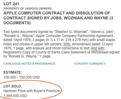 Documentos Apple Vendidos