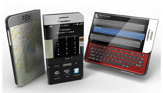 BlackBerry Pantalla Flexible