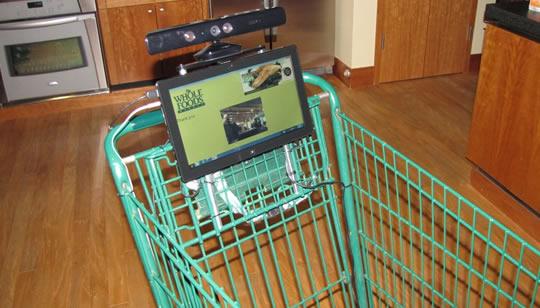 Carro de compras con Kinect