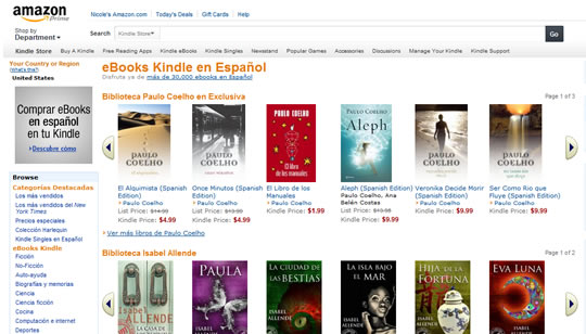 Amazon eBooks Kindle en Español