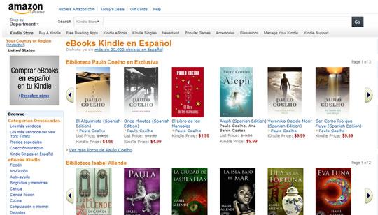 Amazon eBooks Kindle en Español