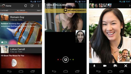 Google Plus App Hangout