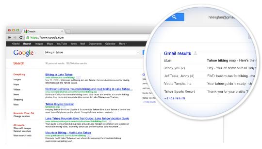 Gmail en Resultados Google