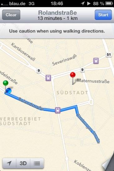 Malas Direcciones en iOS6