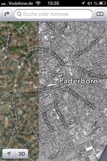 Mapas en el iPhone