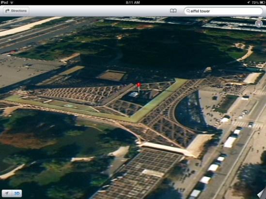 Toore Eiffel Apple Maps
