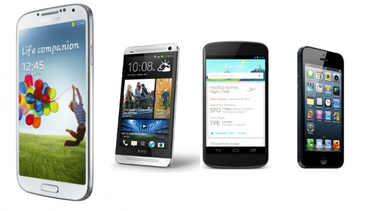 Celular Samsung Galaxy S4: Samsung Galaxy S4 Comparado Con El HTC One, IPhone 5 Y LG