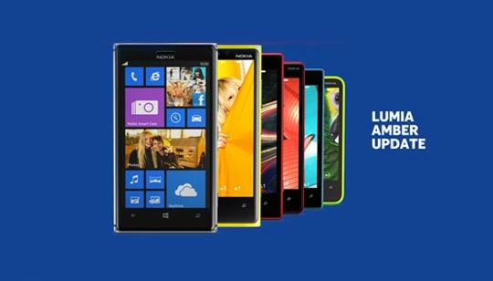 Actualización Nokia Lumia Amber