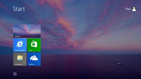 Windows Blue Inicio