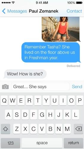 Mensajes de Texto iOS 7