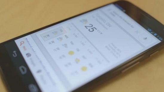 Moto X Google Now