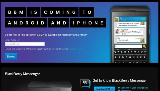 BBM para Android iPhone