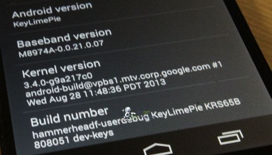 Android 4.4 Key Lime Pie
