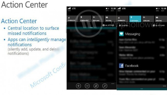 Action Center Windows Phone 8-1