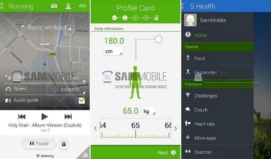 S Health Galaxy S5