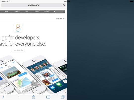 iPad pantalla dividida