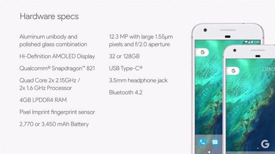 google-pixel-caracteristicas-tecnicas