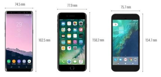 Note-8-vs-iPhone-7-Plus-vs-Google-Pixel-XL
