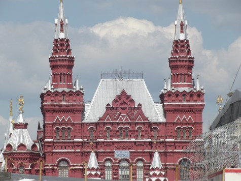 Red featured heavily in Red Square, naturally